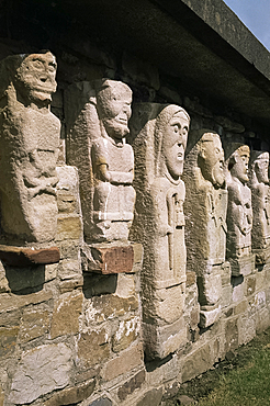 Stone carvings dating from the 9th and 10th centuries, White Island, County Fermanagh, Northern Ireland, United Kingdom, Europe