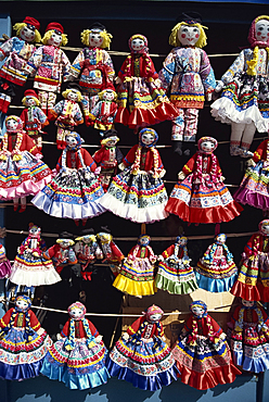Dolls for sale, Izmaylovo Market, Moscow, Russia, Europe
