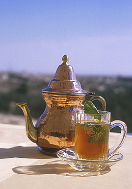 Mint tea, Sahara Palace Hotel, Nefta, Tunisia *** Local Caption ***