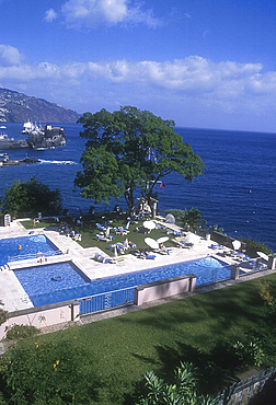 Swimming pools, Reids Palace Hotel, Funchal, Madeira, Portugal *** Local Caption ***