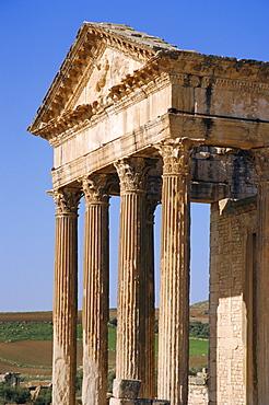 The Capitol, Dougga (Roman ruins), Tunisia, North Africa