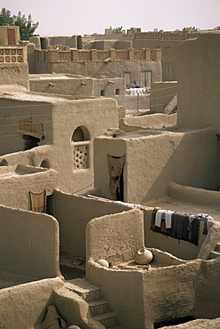 Mud-walled houses, Mopti, Mali, Africa