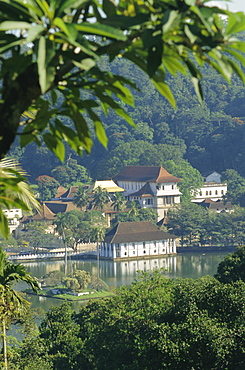 Temple of the Tooth, houses a tooth relic of the Buddha, Kandy, Sri Lanka