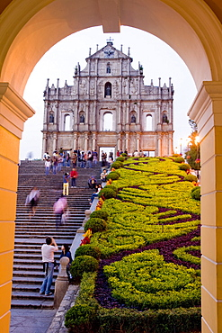 Facade of St. Paul's Cathedral, Macau, China, Asia