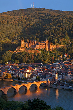 Alte Brucke over River Neckar at Heidelberg, Baden-Wurttemberg, Germany, Europe