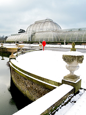 Palm House in Kew Gardens in winter, Royal Botanic Gardens, UNESCO World Heritage Site, Kew, Greater London, England, United Kingdom, Europe