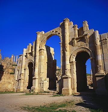 Jerash South Gate in Jordan, Dating From c.130 AD