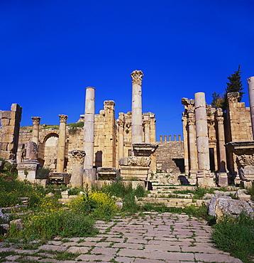 Temple of Artemis, Jerash, Jordan, Middle East