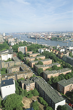 Germany, Hamburg, view from St Michaelis Church