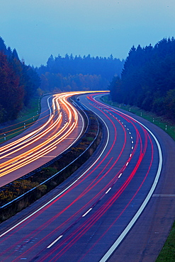 Highway A1 near Hermeskeil, Rhineland-Palatinate, Germany, Europe