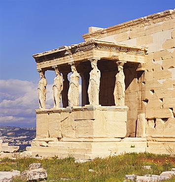 Caryatids, Erechteion, Acropolis, Athens, Greece