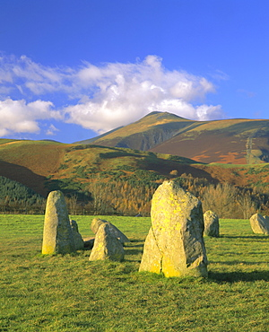 Castlerigg Stone Circle (The Druid's Circle), Lake District National Park, Cumbria, England, UK, Europe