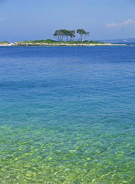 Clear water off Red Island, at Rovinj, Croatia, Europe