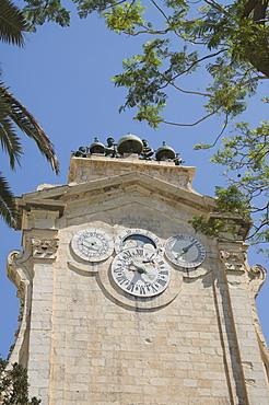 The clock tower with bells, Grand Master's Palace, Valletta, Malta, Europe