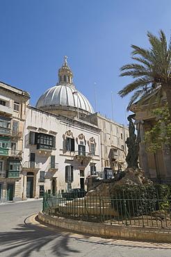 Dome of the Carmelite Church, Valletta, Malta, Europe