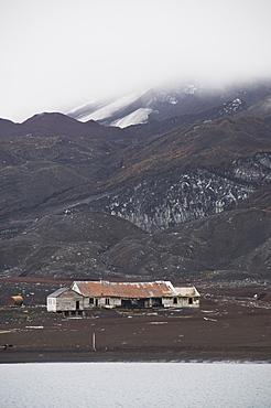 Remains of old Whaling Station, Deception Island, South Shetland Islands, Antarctica, Polar Regions
