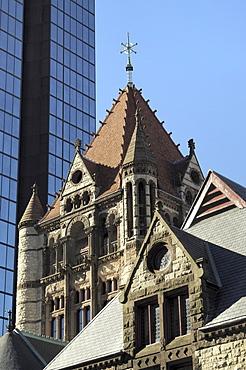 Trinity Church, Hancock Tower, Boston, Massachusetts, New England, United States of America, North America