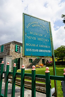 Museum of Nevis History, Charlestown, Nevis, St. Kitts and Nevis, Leeward Islands, West Indies, Caribbean, Central America