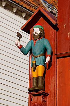 Traditional wooden Hanseatic merchants buildings of the Bryggen, UNESCO World Heritage Site, Bergen, Hordaland, Norway, Scandinavia, Europe