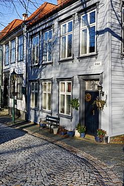 Old Houses in the Bryggen District, Bergen, Hordaland, Norway, Scandinavia, Europe