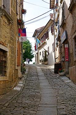 Hill village of Groznjan, Istra Peninsula, Croatia, Europe