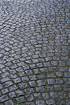 Cobblestones on street in Aeroskobing, island of Aero, Denmark, Scandinavia, Europe