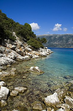 Near Fiskardo on the east coast of Kefalonia (Cephalonia), Ionian Islands, Greece, Europe