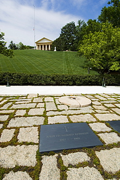Tomb of John F. Kennedy at Arlington National Cemetery, Arlington, Virginia, United States of America, North America