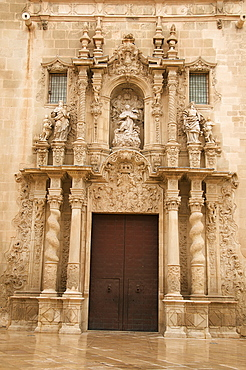 Santa Maria church, San Roque quarter, Alicante, Valencia province, Spain, Europe