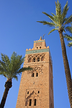 Koutoubia minaret, Marrakesh, Morocco, North Africa, Africa