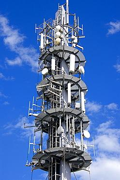 Multi media aerials, Sete, Herault, Languedoc-Roussillon region, France, Europe