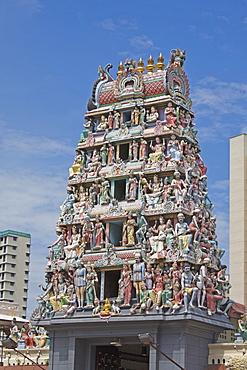 Sri Mariamman Temple, Chinatown, Singapore, Southeast Asia, Asia