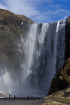 Skogafoss waterfall, South Iceland, Iceland, Polar Regions