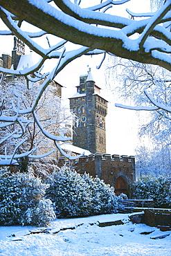 Cardiff Castle Bute Park Snow