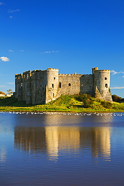 Carew Castle, Pembrokeshire, West Wales, Wales, United Kingdom, Europe