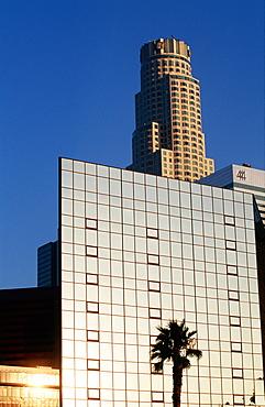 Usa, California, Los Angeles, Downtown, Palme & Glass Blgs