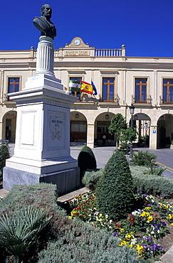 Spain, Andaloucia, Ronda, Plaza De Espana & Parador (Luxury Hotel)