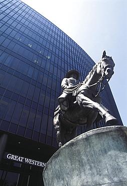 Usa, Ca, Los Angeles, Beverly Hills, Buffalo Bill Statue