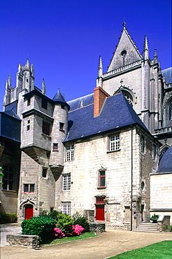 France, Pays De La Loire, Loire Atlantique (44), Nantes, Medieval Gothic Cathedral