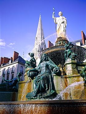 France, Pays De La Loire, Loire Atlantique (44), Nantes, The Fountain