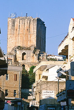 Syria, 30 Km East Of Tartus In The Mountain, The Town Is Dominated By A Donjon Built By The French Crusaders At The End Of Xii Thc And Known As Chastel Blanc