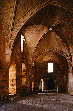Syria, Orontes River Valley, Krak Des Chevaliers, Impressive Fortress Buit By The French Crusaders In 1099-1142 Mainly By Hospital Knights, Interior View Of The Gothic Church