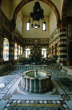Syria, Damascus, Azem Palace Built In 1749 By Turkish Governor Assad Pasha Al Azem, The Qaa (Pasha Reception Room)