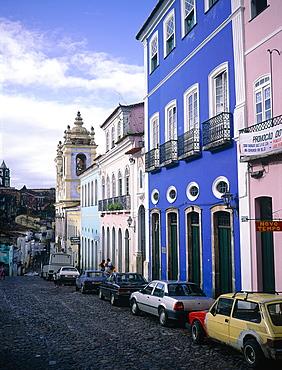 Brazil, Salvador De Bahia, The Historic Quarter Of Pelourinho, Largo Do Pelourinho, At Back The Cathedral (Se)