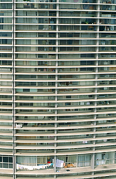 Brazil, Sudeste, Sao Paulo, Overview On The Copan Building (Architect Niemeyer) In City Center