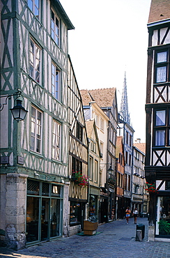 France, Normandy, Seinemaritime (76), City Of Rouen, The Medieval Quarter Sheltering Many Halftimbered Houses