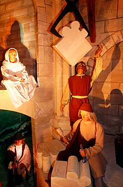 France, Normandy, Manche (50), Mont Saintmichel, The Village People, Scene Of The Abbey Building At The Grevin Wax Museum