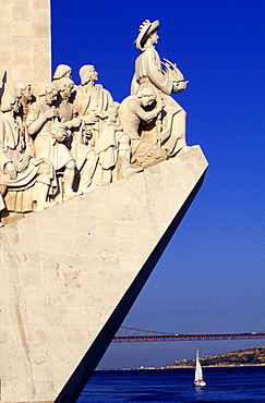 Portugal, Lisbon, Monument Of The Discoveries Dedicated To Portuguese Seamen