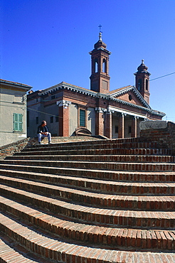 Italy, Emilia Romagna, River Po Delta, Comarchio, Stairs Leading To The Church