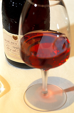 Rose wine from Les Riceys, Restaurant Valentino, Troyes, Aube, Champagne, France, Europe